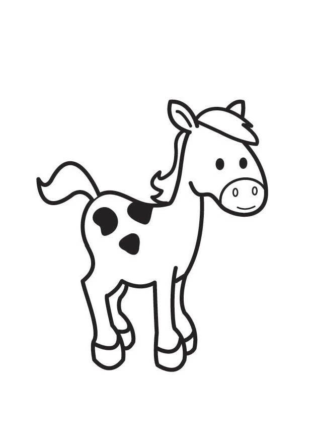 Kleurplaat Paard Afb 17762