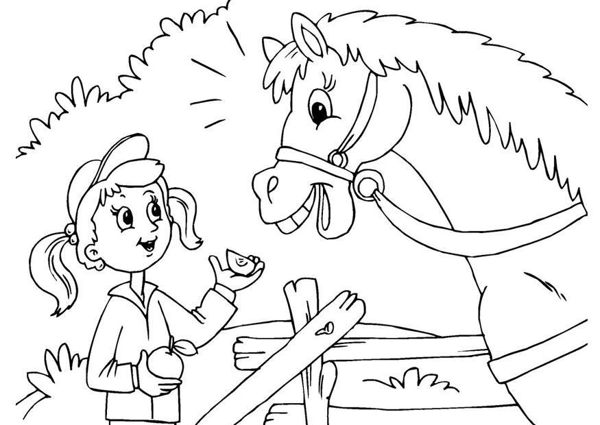 Paarden Kleurplaten Printen Kleurplaat Paard En Meisje Gratis Kleurplaten Om Te Printen