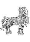 Kleurplaat paard merrie