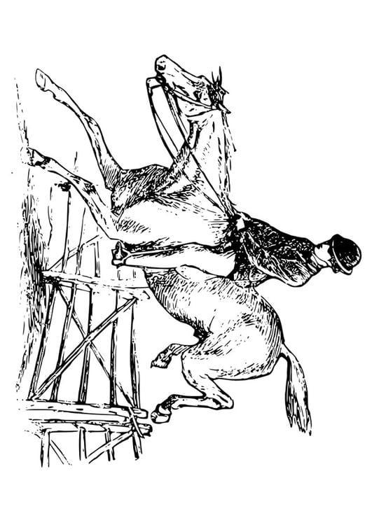 Paard Opgezadeld Kleurplaat Kleurplaat Paard Met Ruiter Afb 27894
