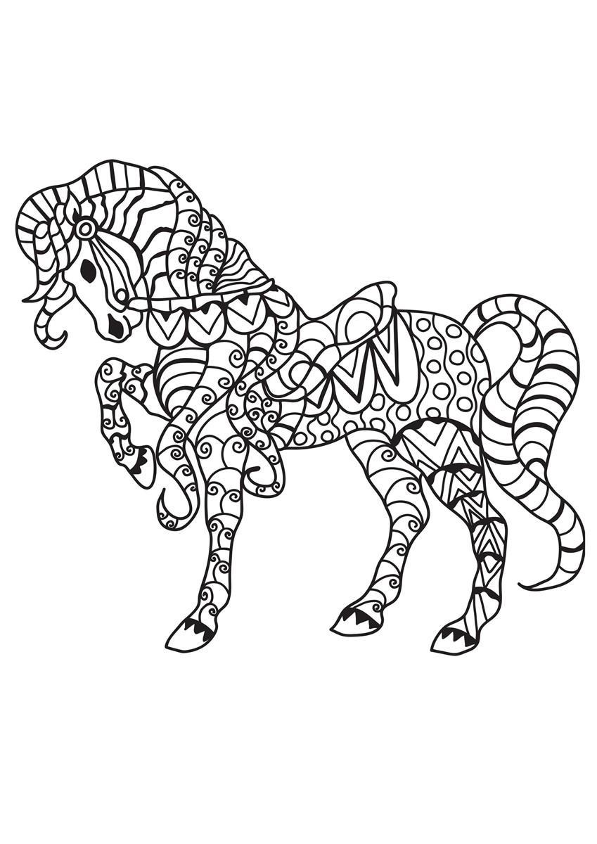 kleurplaat paard met zadel gratis kleurplaten om te printen