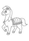 Kleurplaat paard op stap