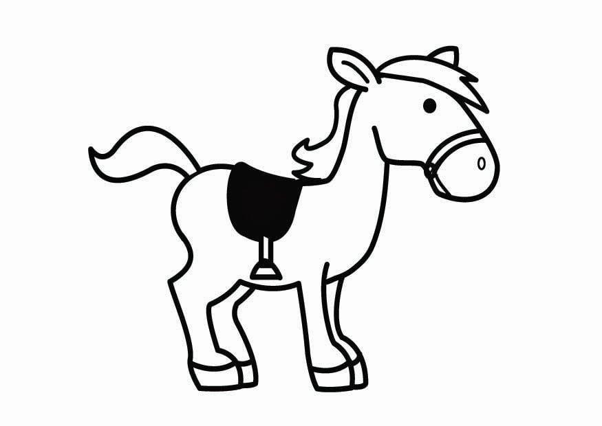Kleurplaat Paard Van De Sint Afb 26707