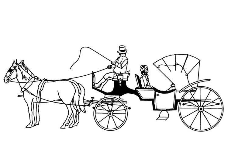 Kleurplaten Paard En Koets.Kleurplaat Paarden Met Koets Afb 18880