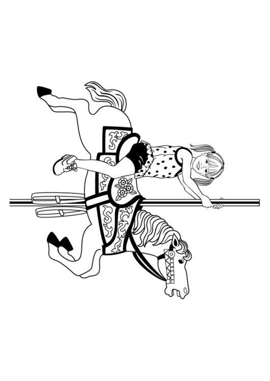 Kleurplaat Paardenmolen Afb 9021