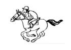 Kleurplaat paardrijden