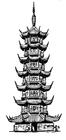Kleurplaat pagode