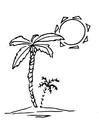Kleurplaat palmboom
