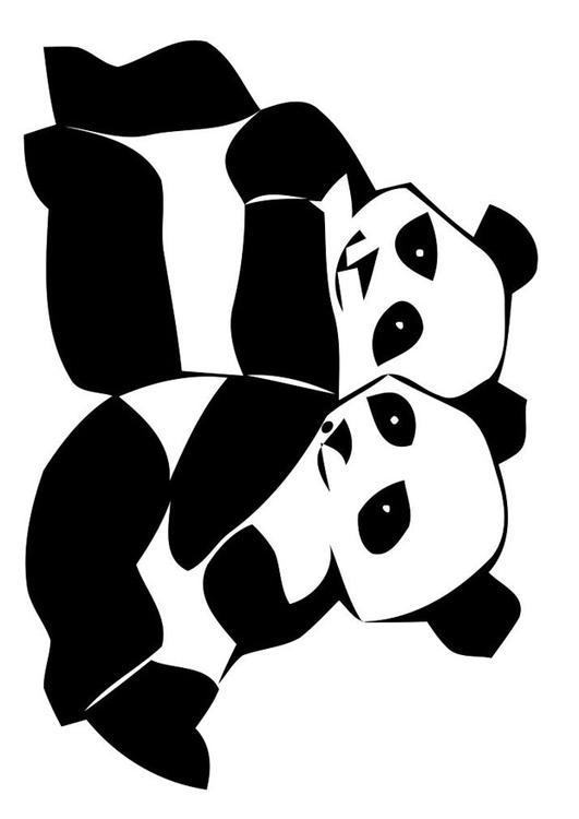 Kleurplaten Dieren In Het Wild Kleurplaat Pandaberen Afb 19629