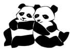 Kleurplaat pandaberen