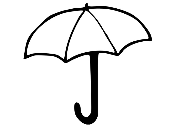 Kleurplaat Paddenstoel Peuters Kleurplaat Paraplu Afb 22783