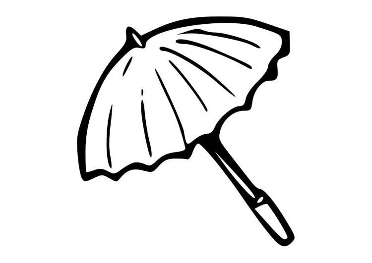 kleurplaat parasol afb 19016