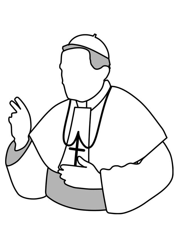 Pope Coloring Page