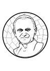 Kleurplaat Paus Johannes Paulus II