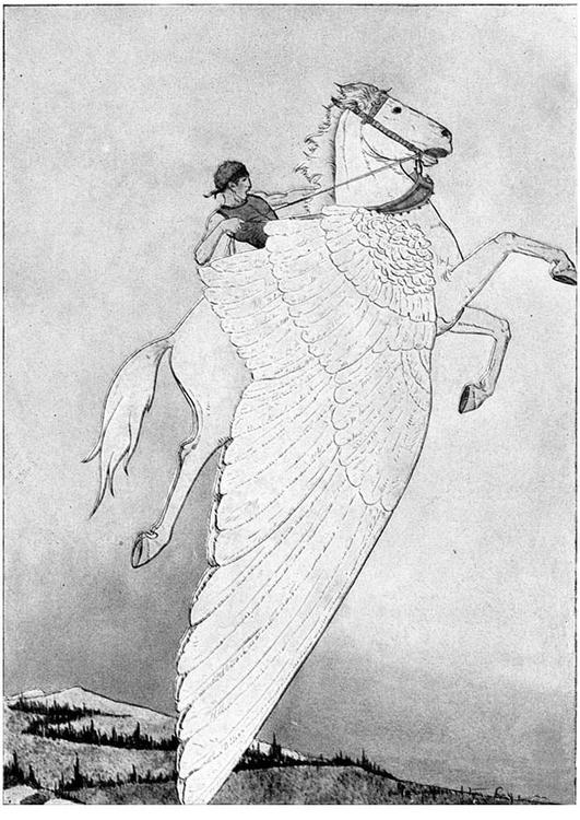 Kleurplaten Paard Met Vleugels.Kleurplaat Pegasus Op Gevleugeld Paard Afb 11238