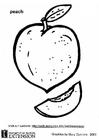 Kleurplaat Fruit Perzik Kleurplaat Perzik Afb 26016
