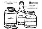 pickles - dressing -mayonnaise
