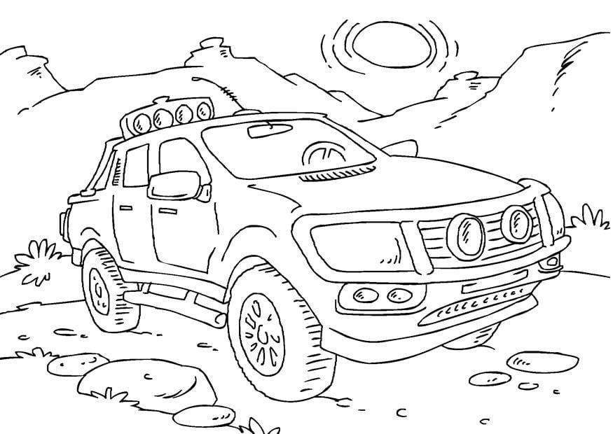 Megladon Monster Truck Coloring Pages