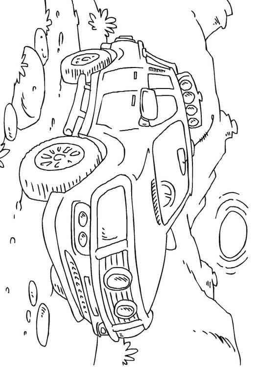 Kleurplaat Pickup Truck Afb 27166