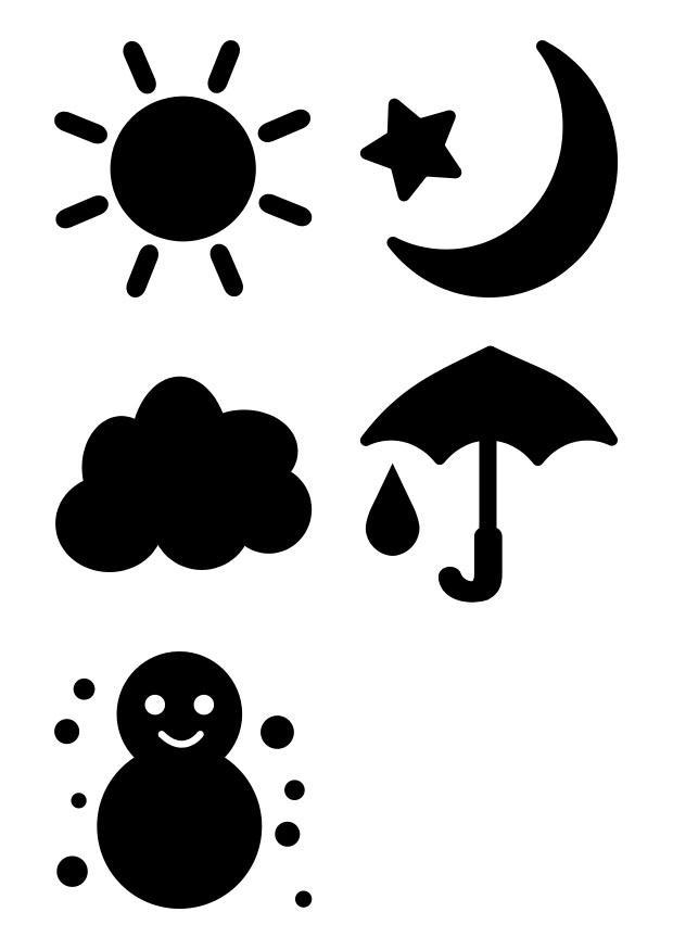 kleurplaat pictogrammen het weer gratis kleurplaten om te