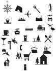Kleurplaat pictogrammen
