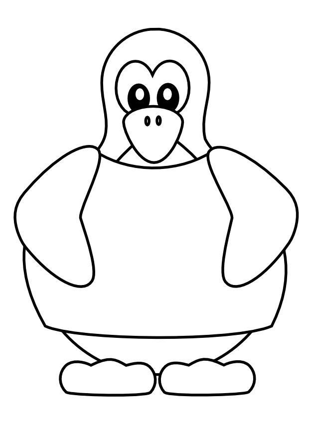 kleurplaat pinguin met t shirt gratis kleurplaten om te