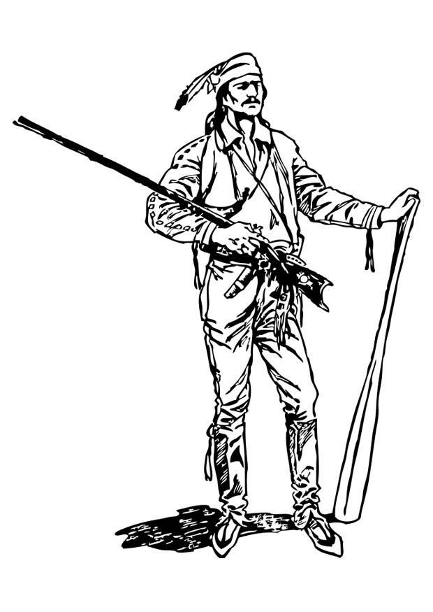 Kleurplaat Pionier Afb 17391