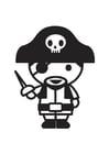 Kleurplaat piraat