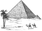 Kleurplaat Piramide