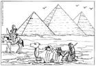 Kleurplaat piramides