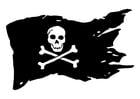 Kleurplaat piratenvlag