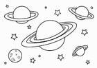 Kleurplaat planeten