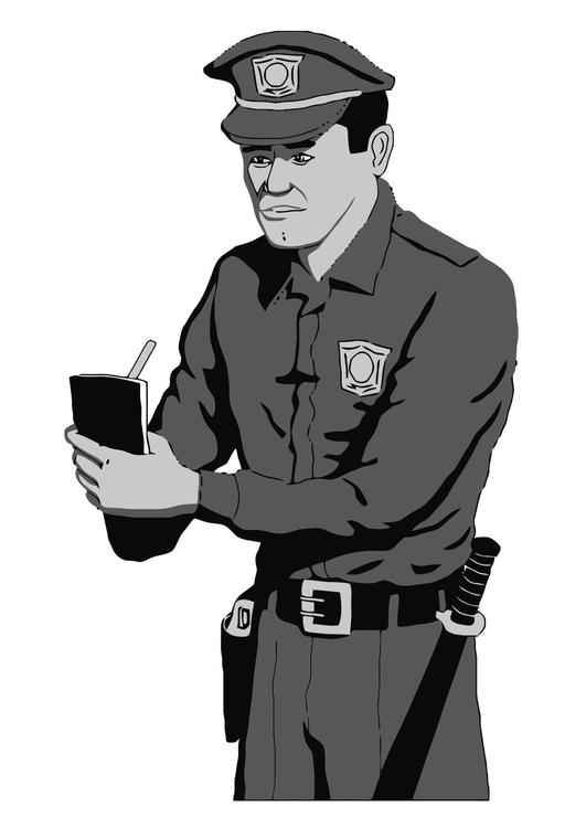 Kleurplaat Politie Afb 11884