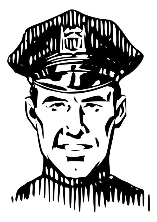 Kleurplaat Politie Afb 28136
