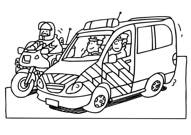 Kleurplaten Politiewagen.Kleurplaat Politie Afb 6535
