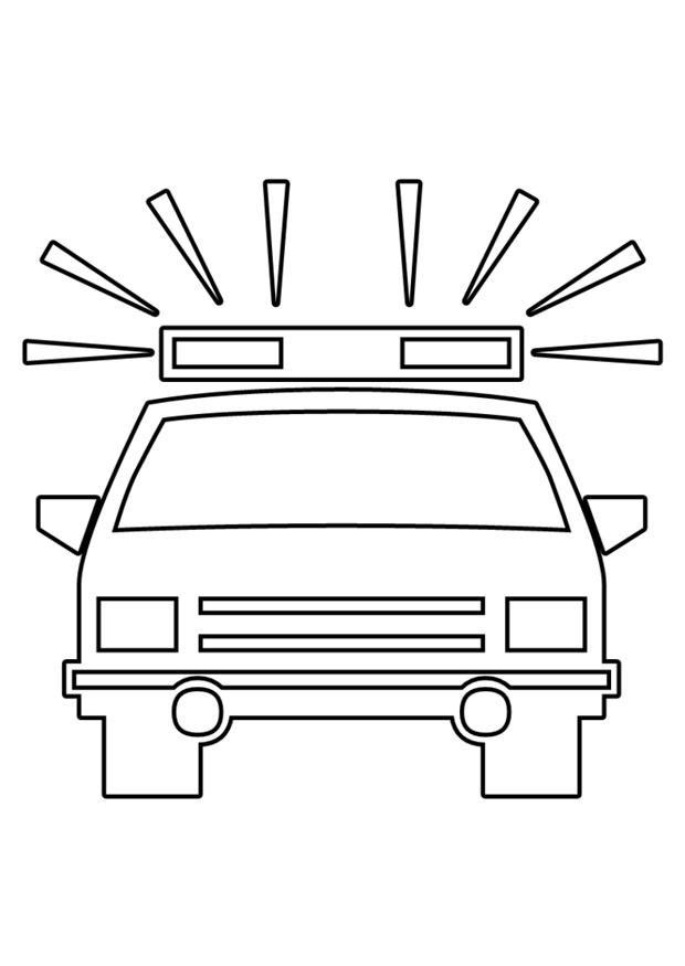 Kleurplaat politieauto - Afb 22563.