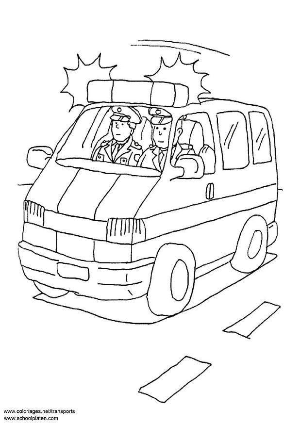 Kleurplaten Politiewagen.Kleurplaat Politiewagen Afb 3087