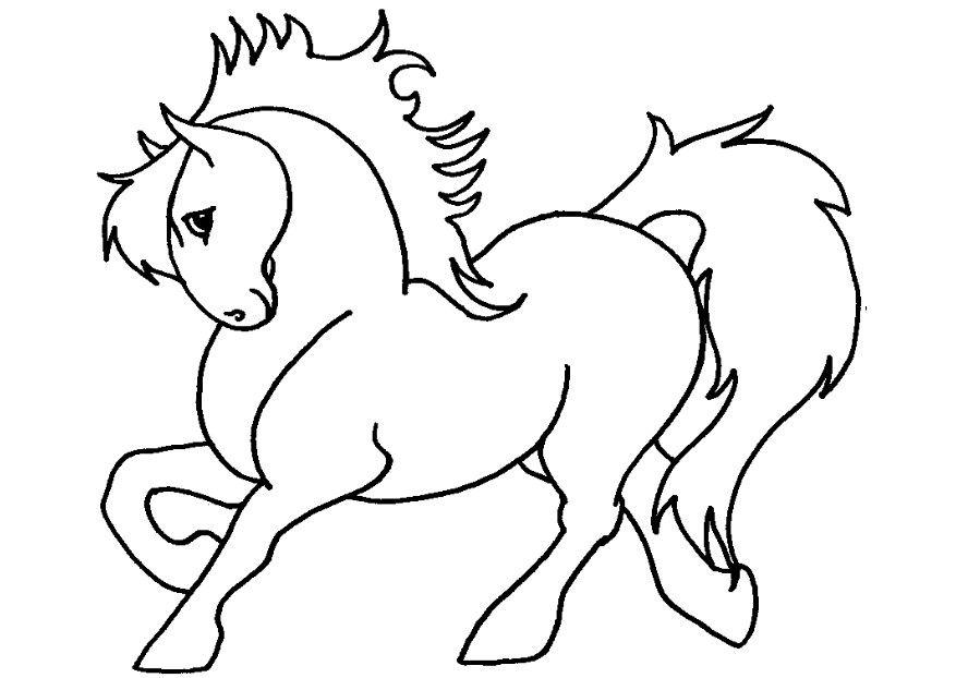 kleurplaat pony afb 7132