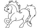Kleurplaat pony