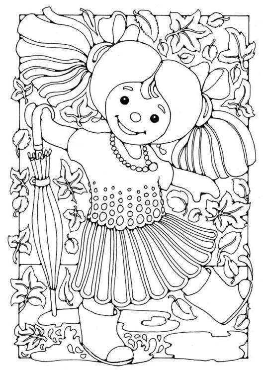 Pop Kleurplaat Kleurplaat Pop Meisje Afb 15829