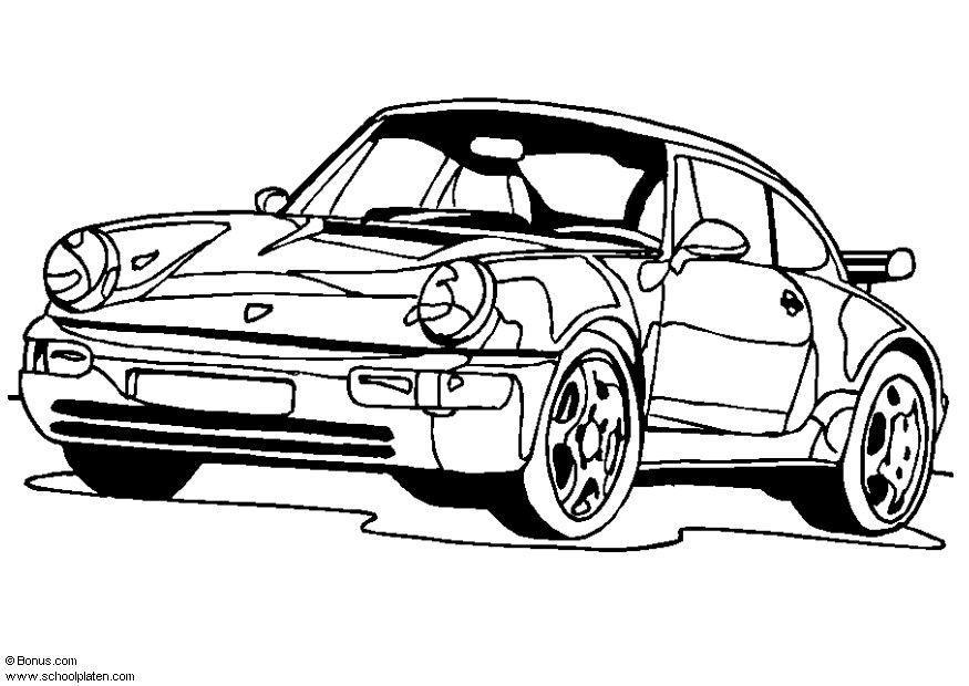 kleurplaat porsche 911 turbo gratis kleurplaten om te