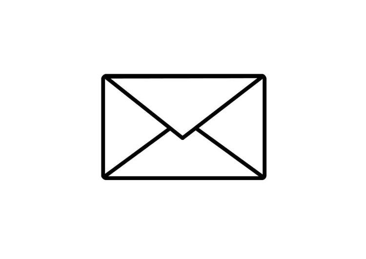 kleurplaat post enveloppe gratis kleurplaten om te printen