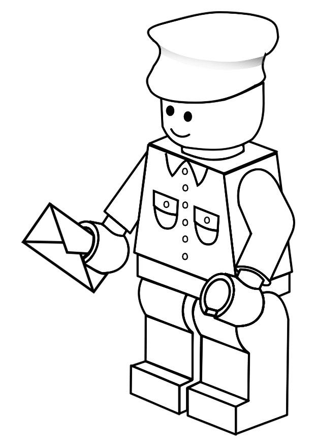 Kleurplaat Postbode Afb 20118 Coloring Pages For Boys Lego Wars Free