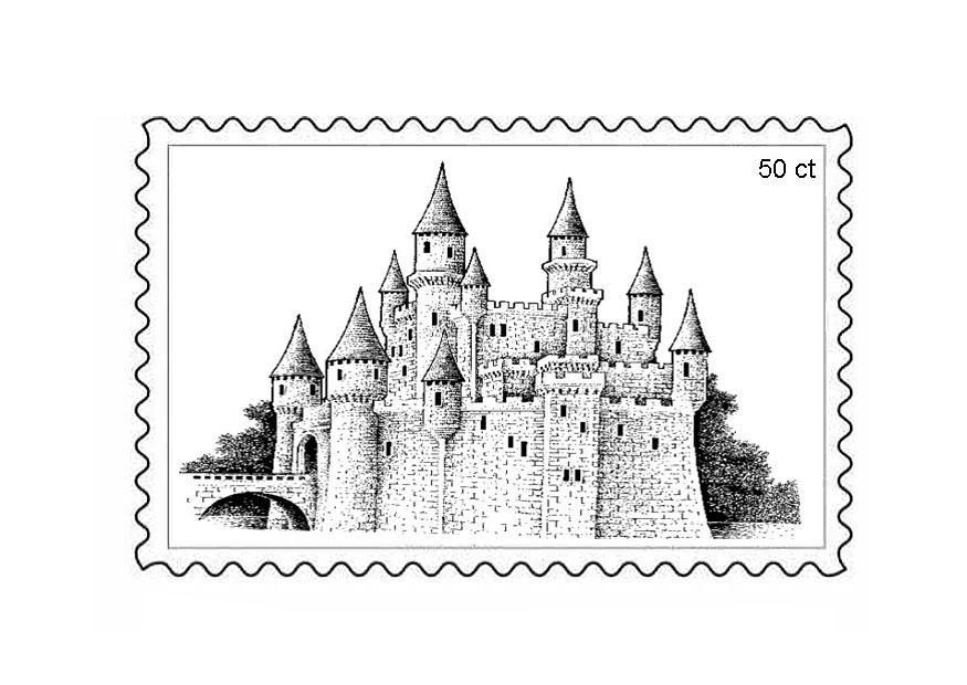 Марки почтовые раскраска