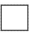 Kleurplaat postzegel vierkant