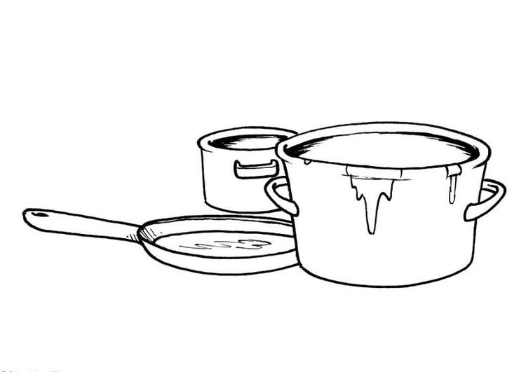 kleurplaat potten en pan gratis kleurplaten om te printen