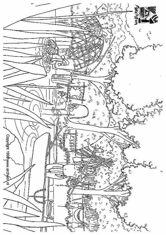 kleurplaat prehistorie afb 3201