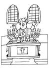 Kleurplaat priester