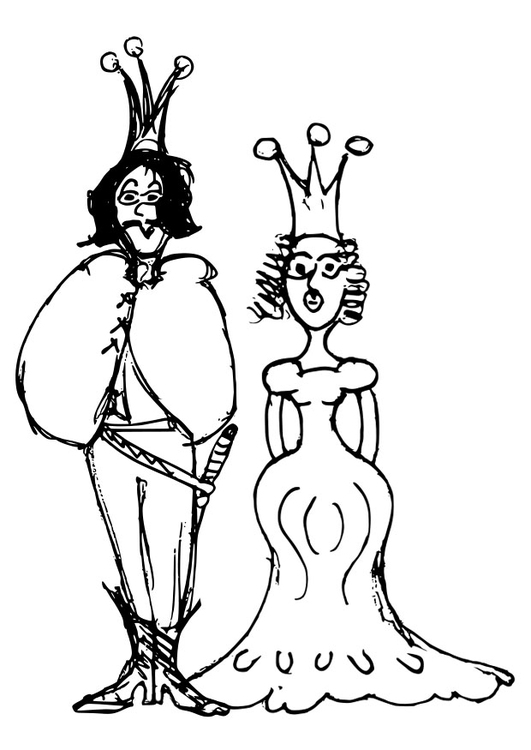 kleurplaat prins en prinses afb 22400