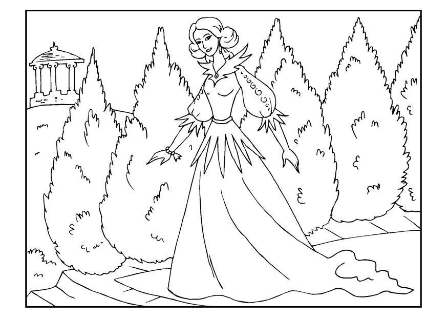 kleurplaat prinses gratis kleurplaten om te printen